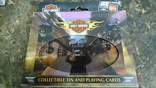 Harley Davidson Collector Tin with 2 sets of Playing Cards