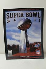 FOOTBALL OFFICIAL SUPER BOWL XLII GAME PROGRAM