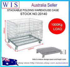 COLLAPSIBLE STACKABLE FOLDING WIRE MESH STILLAGE BASKET WAREHOUSE CAGE-20140