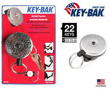 "Key-Bak Retractable 360 Degree Rotation Silver Key Reel Super Duty 36"" Cord"