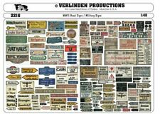 Verlinden 1/48 Road Signs / Military Signs WWII [Printed Diorama Accessory] 2216