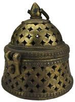 Indien Weihrauchgefäss Weihrauchbrenner Räuchergefäss Bronze