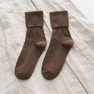 Vintage Women Warm Thick Cotton Socks Stockings Winter Fashion High Socks