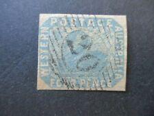 Western Australia Stamps: 4d Imperf Swan Variety Used  -  RARE  (n812)
