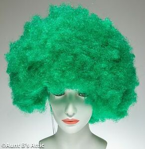 Wig Afro Style Synthetic Hair Medium Width Colorful Clown Character Costume Wig