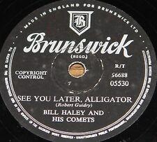BILL HALEY ~ SEE YOU LATER ALLIGATOR b/w PAPER BOY ~ 78 RPM E EXCELLENT GRADE