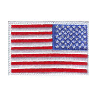 USA Reverse Flag Embroidered Patch