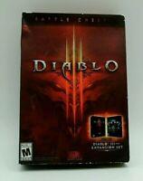 Diablo III 3 Battle Chest (Windows/Mac) OPENED Box, FREE SHIPPING