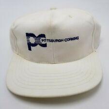 Pittsburgh Corning Hat Cap Advertising White Snapback Used Adult W3