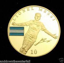 Lionel Messi FC Barcelona 1899 Gold Coin Argentina Signed Footballer Star Legend