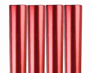 "4 Rolls - Metallic Red Wrapping Paper - 30"" x 300"" JUMBO Rolls - 250 Sq Ft"