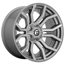 4-Fuel RAGE PLATINUM Brushed Gun Metal Clear 20x10 Ford F250 Rims 8x170 -18