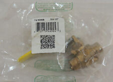 """Brass Gas Ball Valve by Red White Valve Corp 1/2"""" PN 5549AB 600 Wog New"""