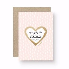 PERSONALISED WILL YOU BE MY GODMOTHER GODFATHER GODPARENTS SCRATCH OFF CARD