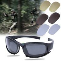 Polarized UV400 Tactical Glasses Military Goggles Army Sunglasses With 4 Lens