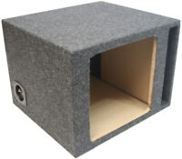 Single 12 Car Stereo Kicker Square L3 L5 L7 Ported Sub Enclosure Subwoofer Box