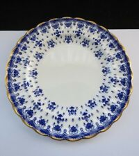 """Spode Fleur De Lys Blue With Gold Rim Y8008 Side Plate 6.25"""""""