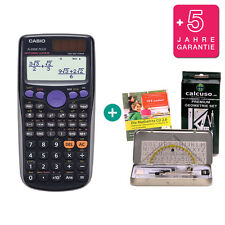 Casio FX 85 DE Plus Taschenrechner + Premium Geometrie-Set Lern-CD Garantie
