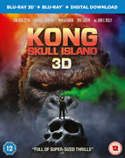 Kong Skull Island Includes Digital Download Blu-ray 3d 2017