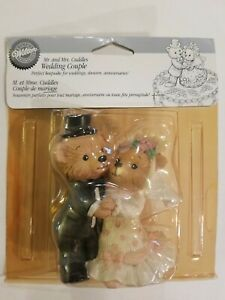 VINTAGE WILTON'S MR AND MRS CUDDLES WEDDING COUPLE CAKE TOPPER NEW