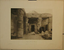 Antique 1893 MAX JUNGHAENDEL 'Temple at Der et Medineh' EGYPT Photo HELIOGRAVURE