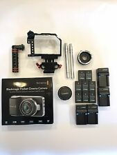 Blackmagic Pocket Cinema Camera BMPCC w/ Lumix 20mm 1.7 & Extras!