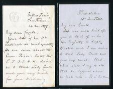 TWO LETTERS COUNT GOTZ VON SECKENDORFF 1887 1888 DEATH KAISER FREDERICK III