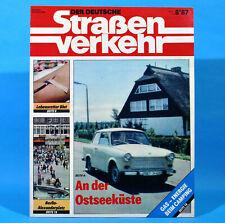 Der Deutsche Straßenverkehr 8/1987 Ribnitz-Damgarten Velorex 700 Bautzen M3