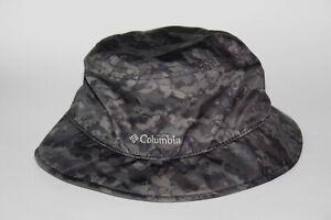 Boy's Columbia Grey/Black Camo Sun Hat Omni Shade Hat No Strap Youth One Size