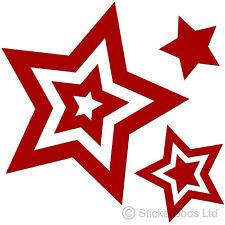 36 Pegatinas de estrella roja oscura Calcomanías Para Coche | | Portada de pared t6
