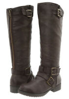 """Madden Girl by Steve Madden NEW """"Legacie"""" BROWN Knee Tall Buckle Riding Boots"""