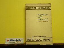 L 4.588 LIBRO PLUTARCO VITE PARALLELE CON TESTO E COMMENTO DI G MUNNO 1950
