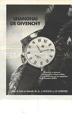 PUBLICITE ADVERTISING  1987  GIVENCHY la montre SHANGHAI