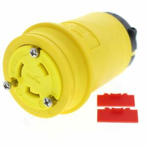 Cooper Yellow Locking Back Wire Grounding Connector L6-30R 30A 250V 2P3W L630CY