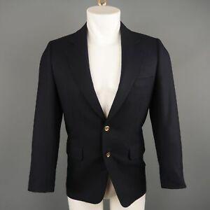 GEORGE REPINEC 36 Navy Wool Sport Coat