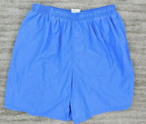 Vintage Speedo Men's Swim Shorts Trunks Blue Size L Nylon Drawstring