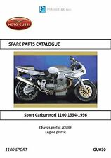 Moto Guzzi parts manual book 1994, 1995 & 1996 Sport Carburatori 1100
