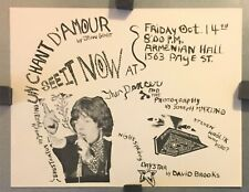 Films by Genet & more | Straight Viewing Society SF Orig 1966 Film Event Flyer