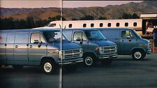 1985 Chevy VAN Brochure/Catalog with Color Chart: G10,G20,G30,Conversion,Diesel,