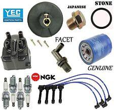 Tune Up Kit Cap Rotor NGK Wires Spark Plug PCV for Honda Civic 1.6L 1988-1991