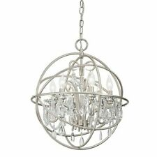 Kichler Vivian 6-Light Brushed Nickel Modern/Contemporary Crystal Chandelier Ite