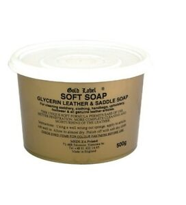 Gold Label Soft Saddle Soap 500G For Cleaning Conditioning & Protecting Leather