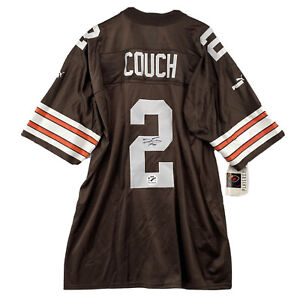 Rare 1999 Cleveland Browns Tim Couch 1 Round Draft Pic Autographed Signed Jersey