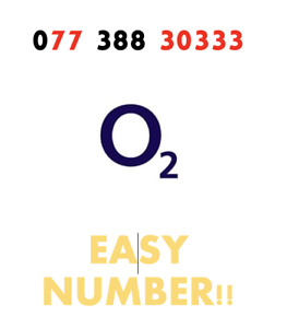GOLD VIP O2 02 Sim Card PAYG Fancy EASY Good Number '077 388 30 333 ' RARE!