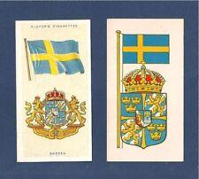 SEVERIGE SWEDEN  SWEDISH National Flag  1905 & 1938 original cards  Nordic Cross