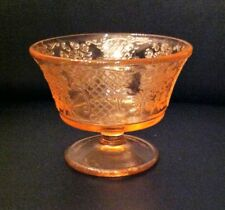 Pink Normandie Depression Glass Sherbets (5)