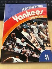 1971 NEW YORK YANKEES YEARBOOK - Munson, Stottlemyre, Murcer