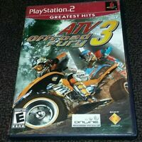 PlayStation 2, ATV OFFROAD FURY 3, E for Everyone, TESTED, Working with manual