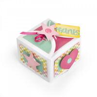 Stanzschablone 3D Schachtel thanks Weihnachten Geburtstag Hochzeit Geschenk DIY