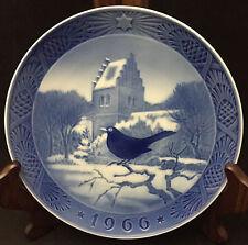 1966 Royal Copenhagen Christmas Plate - Blackbird and Church